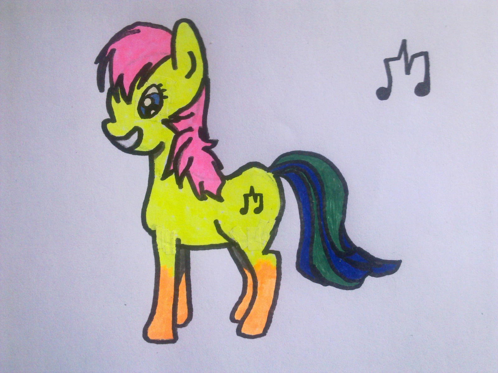 My first attempt at drawing pony OC by Makenshi179