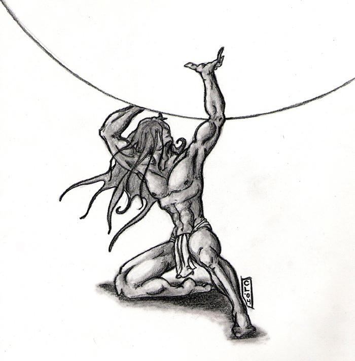 Atlas Holding Up The World Drawing | www.pixshark.com ...