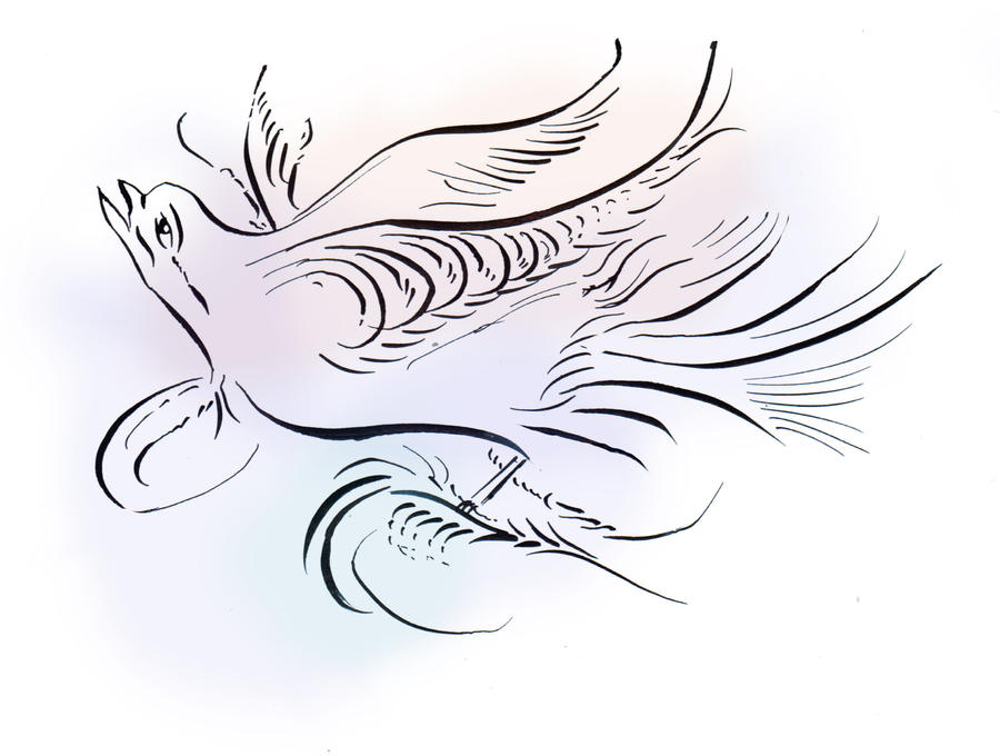 Bird Flourish By Mopig On Deviantart