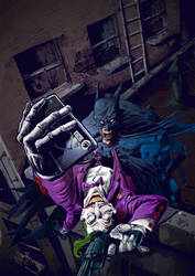 batman  and joker final by R-ethro