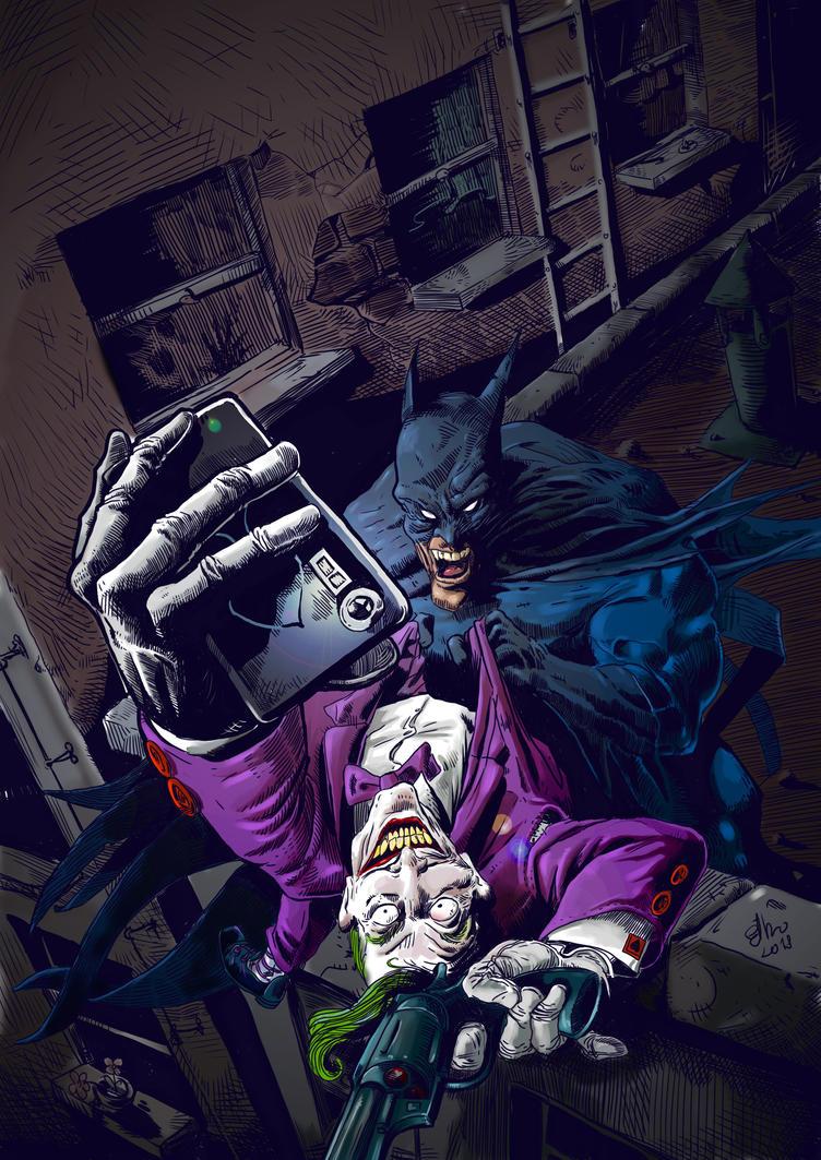 batman  and joker final by R-ethro