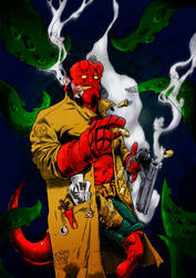 Hellboy by R-ethro
