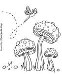 Lazy Mushroom Day Coloring Page by MysticSparkleWings