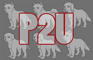 P2U Pup base (Photoshop and Paint) by Trollberserker