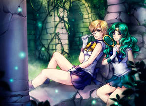 SM: Sailor Uranus x Sailor Neptune