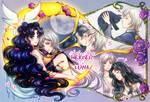 SM: Sailor Star Healer and Luna by Kay-I