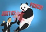 Suit Punching A Panda