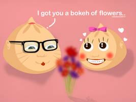Bokeh of Flowers by ridzalzainal