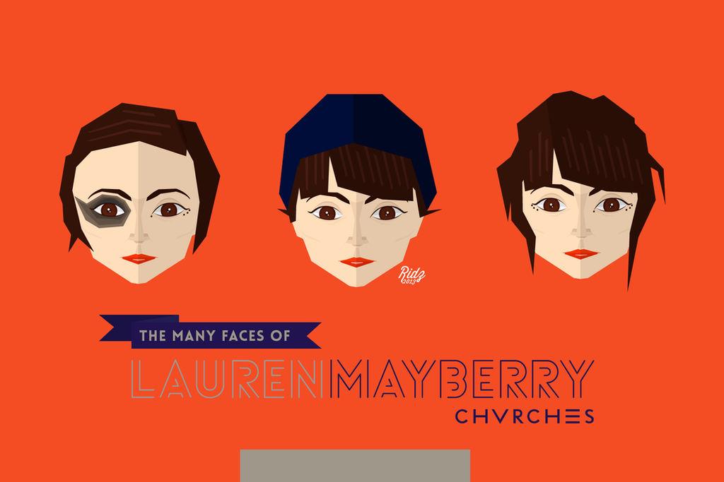 Lauren Mayberry Flat Caricature