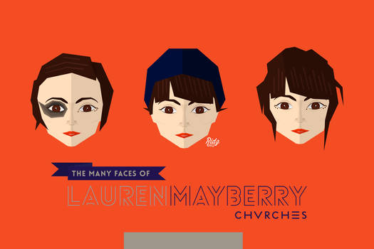 Lauren Mayberry Flat Caricature