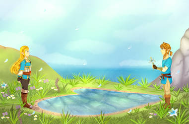 BotW 2nd Anniversary: Lover's Pond by TeLinkfan1