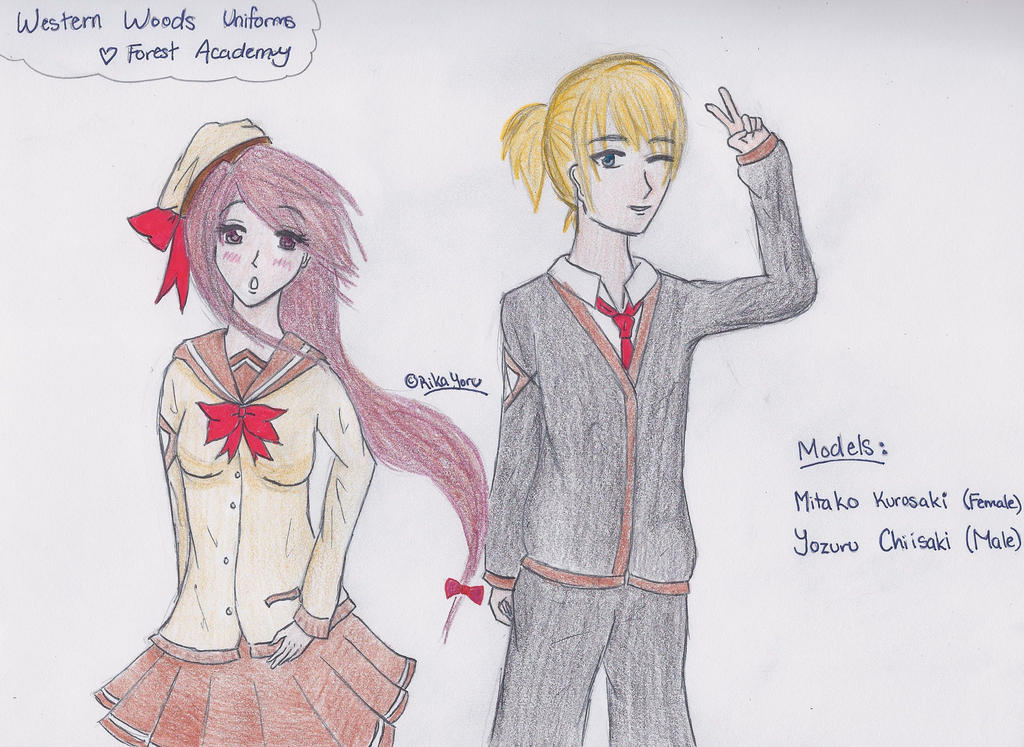Forest Academy Uniforms- Western Woods by RikaYoru