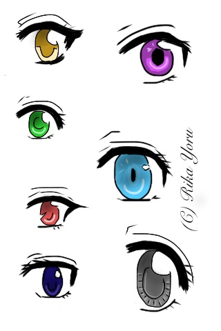 Simple Anime Eye Styles Girls By RikaYoru