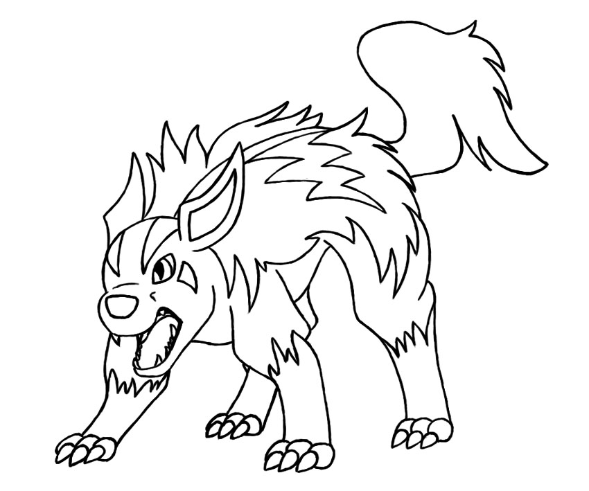 mightyena coloring pages - photo#1
