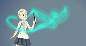 Elsa Patronus by TheBirdFromTheMoon