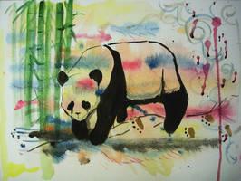 Panda by vessiecakes