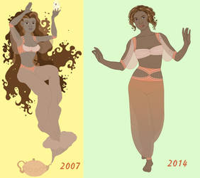 Tea Genie: Then and Now by Valky