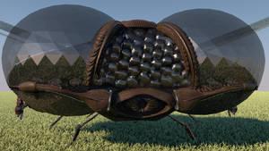 LEXX: Dragonfly shuttle (face)