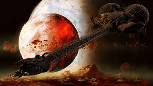 LEXX and a Fire Planet (Giga Res)