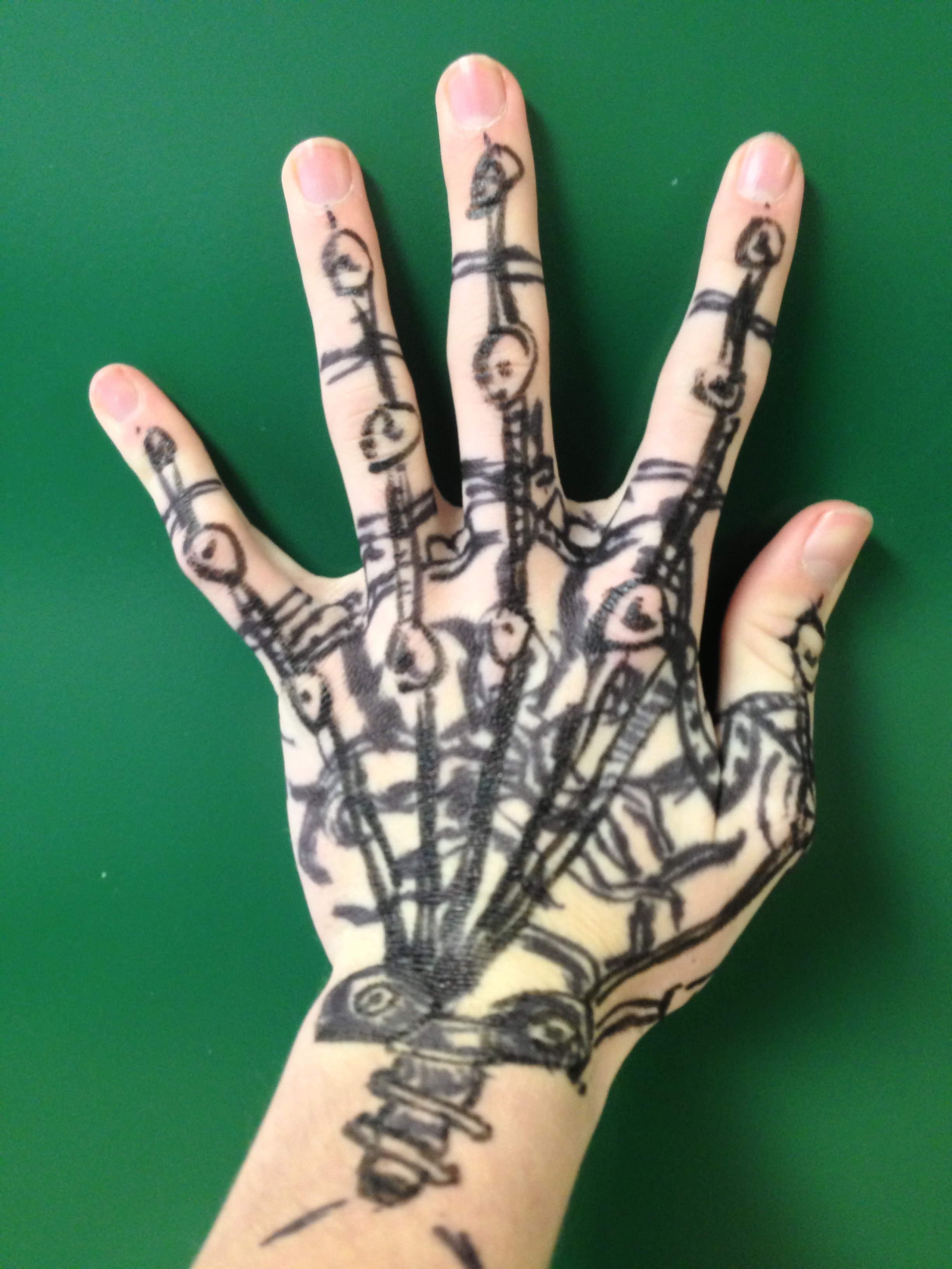 Mechanical hand art - photo#7