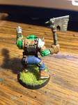 Back of Orc with Ax - Warhammer 40k figurines