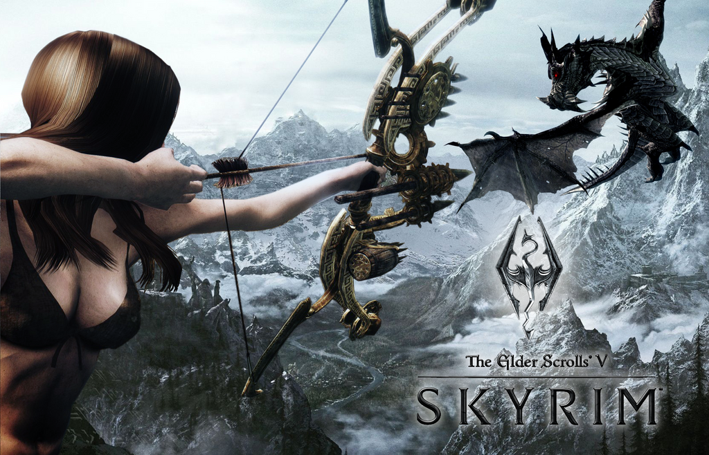 Skyrim Cover Art (Wallpaper) by Alex321432
