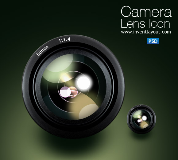 camera lens icon by atifarshad