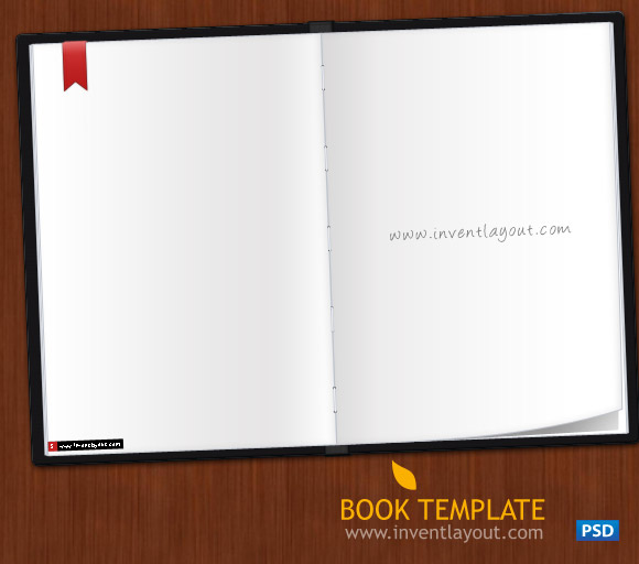 Book Template PSD By Atifarshad On DeviantArt - Online book template free