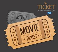 Movie Ticket PSD by atifarshad