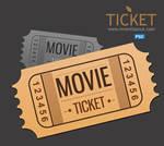 Movie Ticket PSD