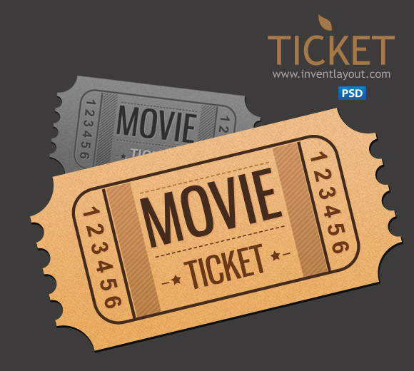 Movie ticket psd by atifarshad on deviantart for Ticket template psd