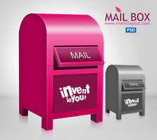 Mailbox Icon PSD by atifarshad