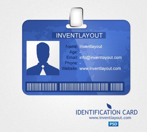 Identification Card PSD by atifarshad