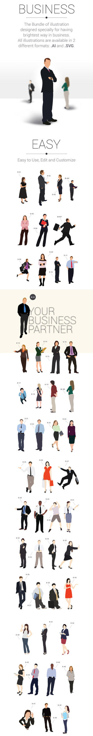 123 Business Character Illustration by atifarshad