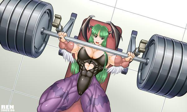 Morrigan cosplay training by RENtb