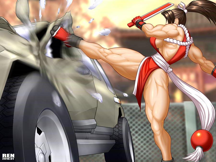 Masami destroys the car color2 by RENtb