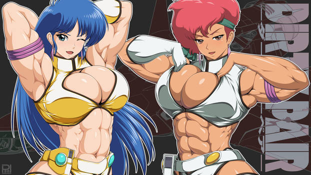 Dirty Pair wall paper