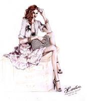 Chanel inspired Fashion Illustration by karolina1994