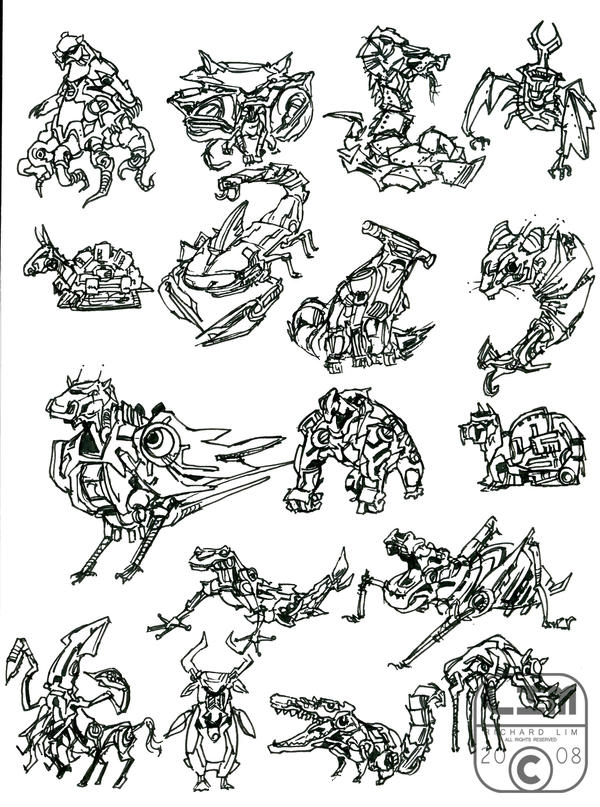 animal robot sketch 1 by LIM-01 on DeviantArt