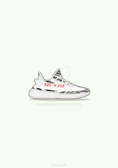 8c9a65d9ded8e ... purchase adidas yeezy boost 350 v2 zebra poster by damiien b 79818 0765c