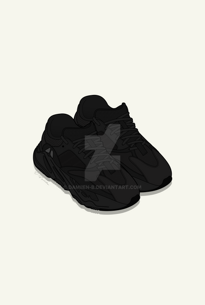 7de742f5a YEEZY BOOST 700   TRIPLE BLACK   by Damiien-b on DeviantArt