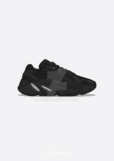 7828b6998 Yeezy boost 700 V2 black by Damiien-b on DeviantArt
