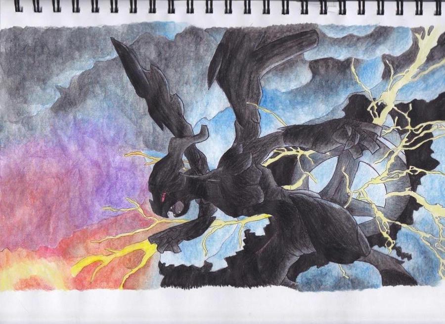Zekrom- Black Dragon by shocking-silence