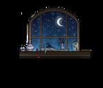 Inktober Day Four: Witch's Windowsill