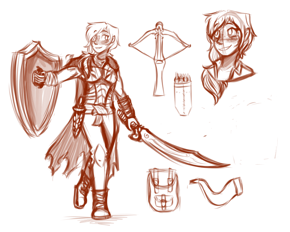 Dnd Character Sketch By Emmryn On Deviantart
