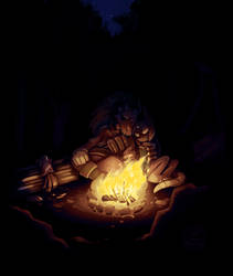 COM- Campfire Cuddles by CatbeeCache