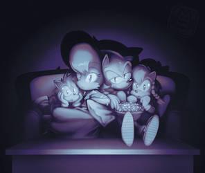 COM- Family Movie Night by CatbeeCache