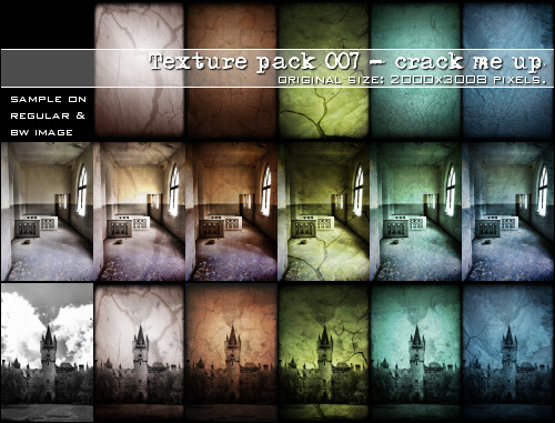 :: Texture pack 007 - Crack me by Liek