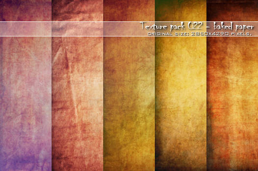 :: Texture pack 022 - Baked Paper ::