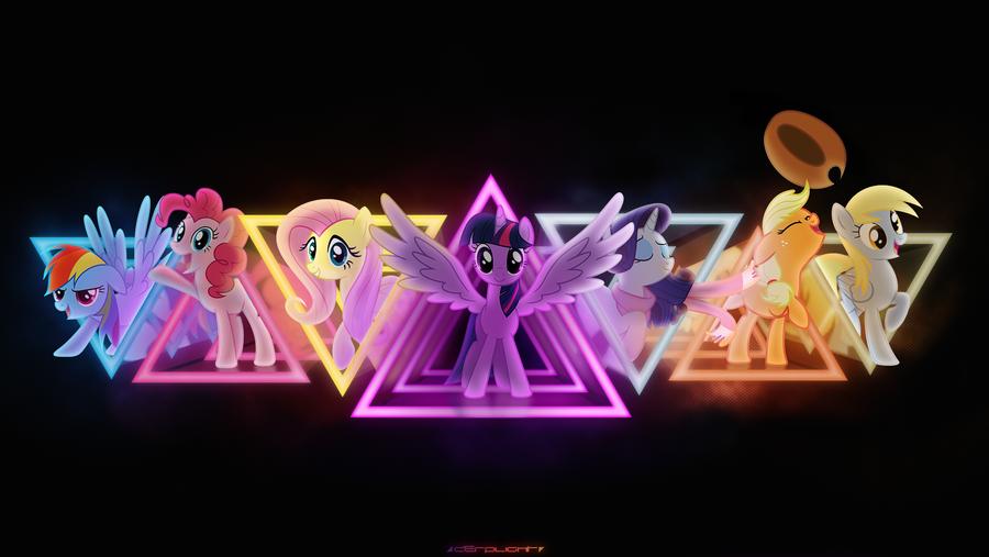 Neon Friendship by derplight